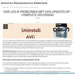 AVG Anti-Virus Update Probleem, hoe dit te verhelpen?