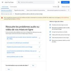 Problèmes de son et de vidéo - Centre d'aide YouTube