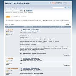 """[PROBLEMES] Soucis du fichier """"centreon.conf.php"""" no writable."""