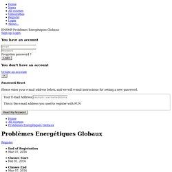 Problèmes Energétiques Globaux (inscriptions jusqu'au 7/2/2016)