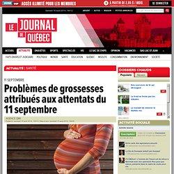 Problèmes de grossesses attribués aux attentats du 11 septembre