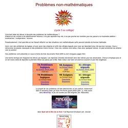 Problèmes non-mathématiques