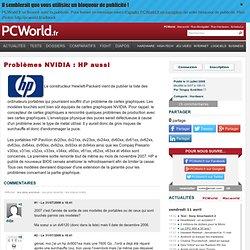 Problèmes NVIDIA : HP aussi