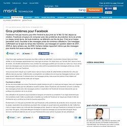 Gros problèmes pour Facebook - Chronique Jean-Michel Vanasse Article