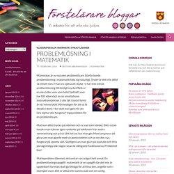 Problemlösning i matematik