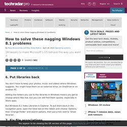How to solve these nagging Windows 8.1 problems: Annoyances 6 - 11