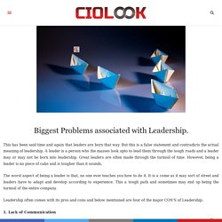 Biggest Problems associated with Leadership
