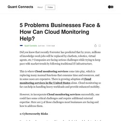 5 Problems Businesses Face & How Can Cloud Monitoring Help?