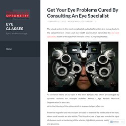 Get Your Eye Problems Cured By Consulting An Eye Specialist