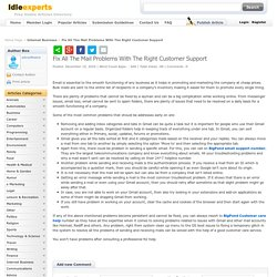 Fix All The Mail Problems With The Right Customer Support Idleexperts