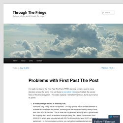 Problems with First Past The Post