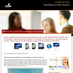 Problems on QuickBooks for Mac resolved-800-786-0581