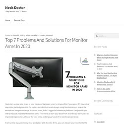 Top 7 Problems And Solutions For Monitor Arms In 2020