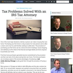 Tax Problems Solved With an IRS Tax Attorney