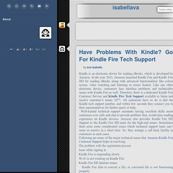 Have Problems With Kindle? Go For Kindle Fire Tech Support