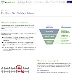 Problems We Solve : TechValidate