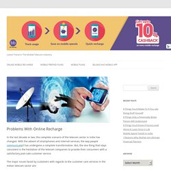 Problems With Online Recharge