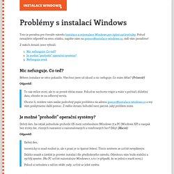 Problémy s instalací Windows
