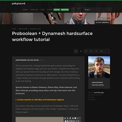 Proboolean + Dynamesh hardsurface workflow tutorial