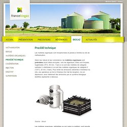 Procédé technique - France Biogaz
