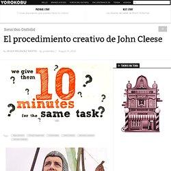 El procedimiento creativo de John Cleese