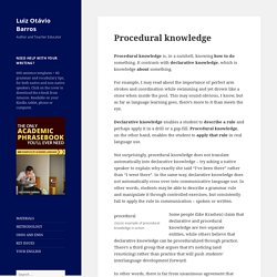 procedural knowledge vs. declarative knowledge