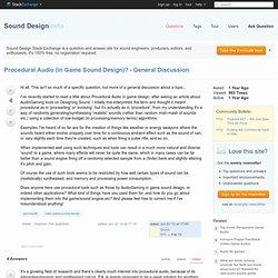 gameaudio - Procedural Audio (in Game Sound Design)? - General Discussion