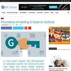 Procedure of adding G Suite to Outlook