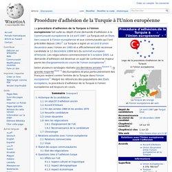 14/04/1987 UE procédure d'adhésion de la Turquie
