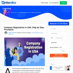 Step by Step Procedure for Company Registration in USA