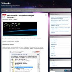 Procédure de Configuration de Eyes Of Network
