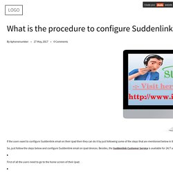 What is the procedure to configure Suddenlink email on iPad?