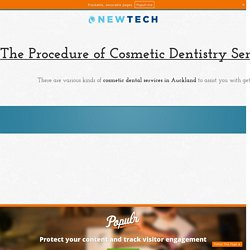 The Procedure of Cosmetic Dentistry Services in Auckland