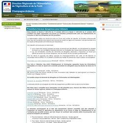 Procédure travaux dangereux pour mineurs - DRAAF Champagne-Ardenne