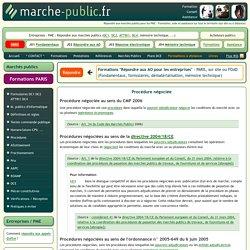 Procedure negociee marchés publics définition
