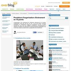 Procédure d'organisation d'évènement en 10 points