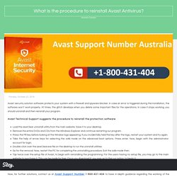 What is the procedure to reinstall Avast Antivirus?
