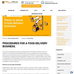 PROCEDURES FOR A FOOD DELIVERY BUSINESS. - File Taxes Online