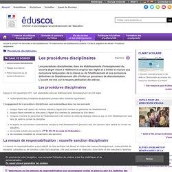 Procédures disciplinaires - Les procédures disciplinaires