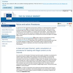 Notice-and-action Procedures - Online services - European Commission