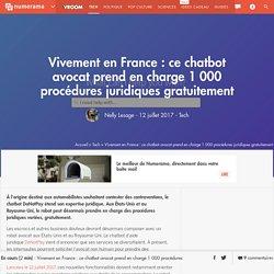 Vivement en France : ce chatbot avocat prend en charge 1 000 procédures juridiques gratuitement