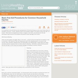 Basic first aid procedures for common household injuries - by Rebecca Adele Scarlett