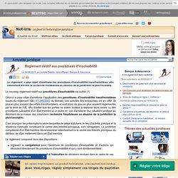 Règlement relatif aux procédures d'insolvabilité