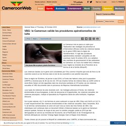 VBG: le Cameroun valide les procédures opérationnelles de lutte