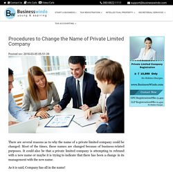 Procedures to Change the Name of Private Limited Company