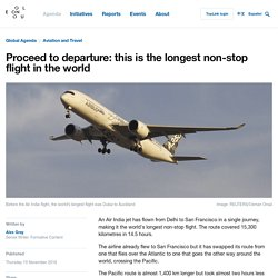 Proceed to departure: this is the longest non-stop flight in the world