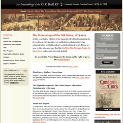 Old Bailey Online - The Proceedings of the Old Bailey, 1674-1913 - Central Criminal Court