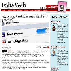 '45 procent minder mail dankzij protocol'
