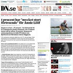 """1 procent har """"mycket stort förtroende"""" för Annie Lööf"""