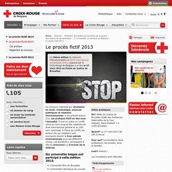 Le procès fictif 2013 - Croix-Rouge